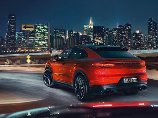 Plasmata dalla performance. La nuova Cayenne Turbo Coupé.